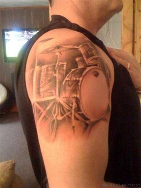 rock music tattoo designs 50 drum tattoos