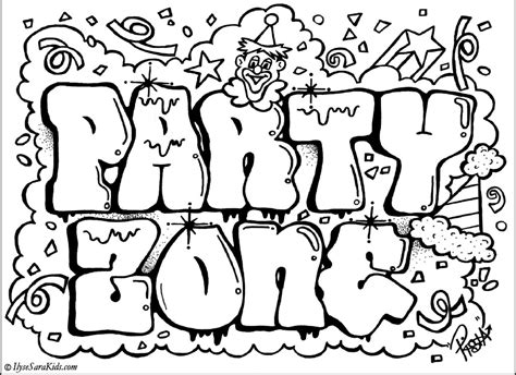 printable graffiti fonts web page font colors az coloring pages