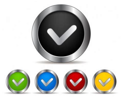tombol tanda centang vektor web desain vektor gratis