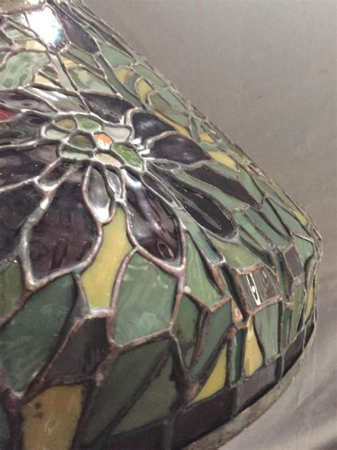 stained glass hanging l large stained leaded glass floral hanging l