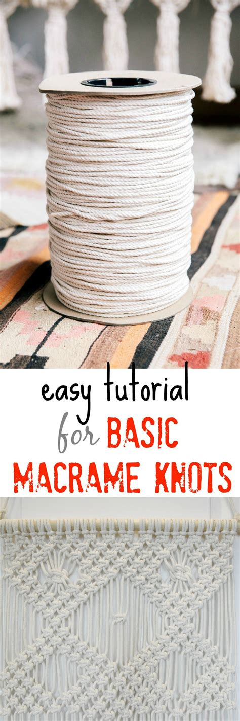 Learn Macrame Knots - easy tutorial for basic macrame knots my twist