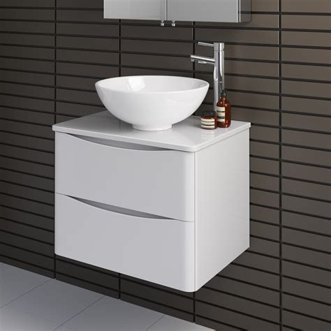 Countertop Sink Unit 600mm wall hung bathroom storage vanity unit countertop basin sink mv2617t ebay