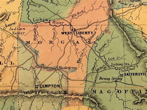 kentucky map civil war eastern kentucky and the civil war county