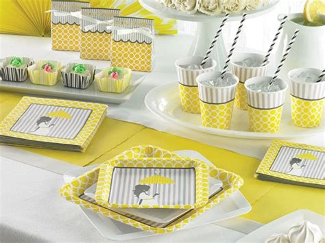 Mod Baby Shower Decorations by Mod Baby Shower Decorations Yellow And Grey Baby