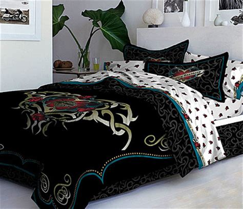 queen size harley davidson comforter pine cone hill madeline stripe blue bedskirt queen size beds