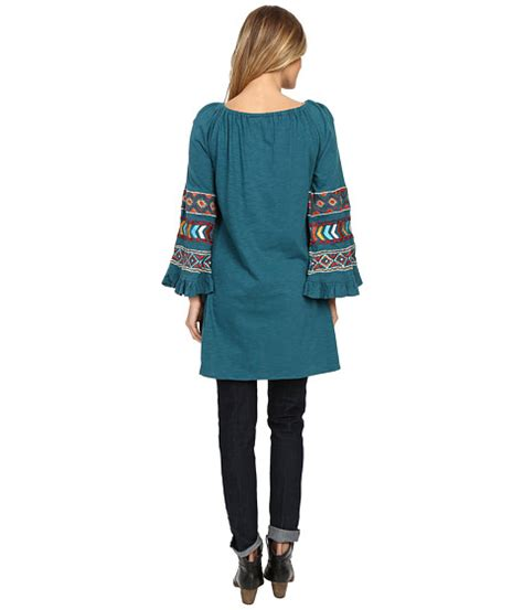Wst 18768 Embroidered Bell Sleeve scully caily embroidered bell sleeve tunic at 6pm