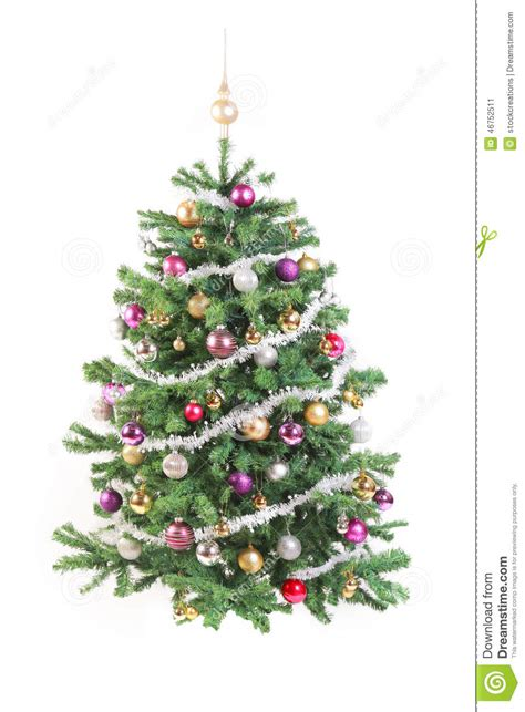 decorated tree pictures free decorated tree with garland stock image image