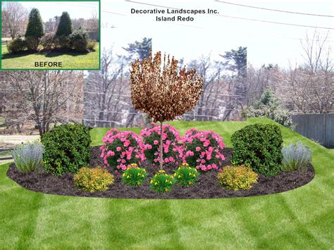 how to design a flower bed front yard landscape design madecorative landscapes inc