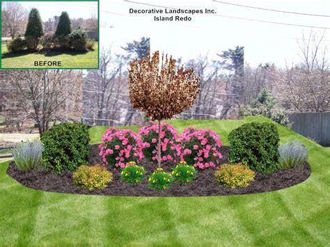 Front Yard Landscape Design, MADecorative Landscapes Inc.
