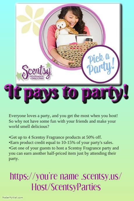 Scentsy Party Template Postermywall Scentsy Flyer Templates