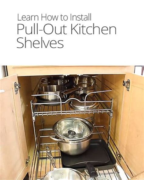 how to lay out a kitchen how to install pull out kitchen shelves home diy ideas