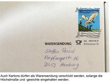 Beschriftung Warensendung by Sparversand Lieferzeiten Preise F 252 R Warensendungen