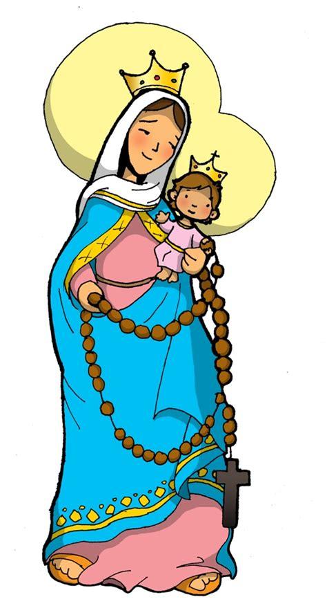 imagenes virgen maria caricatura dibujos para catequesis virgen del rosario de san nicol 193 s