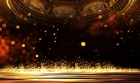 show background golden atmosphere bright show board poster background