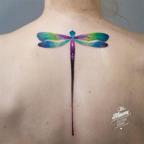 gorgeous dragonfly watercolor tattoos pinterest