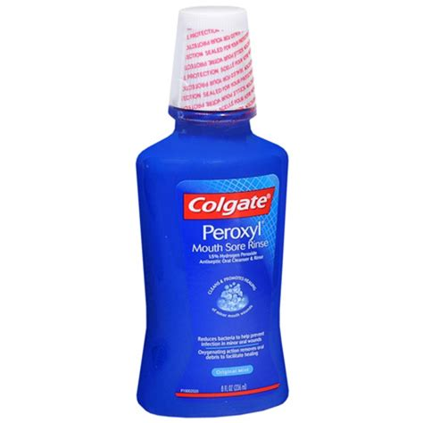 Rinsing With Hydrogen Peroxide Detox colgate peroxyl antiseptic cleanser hydrogen