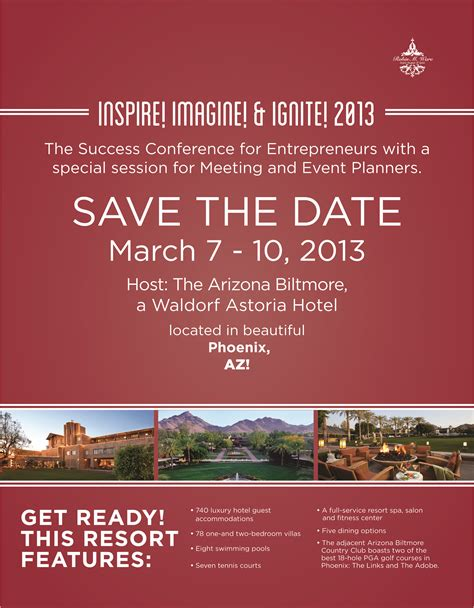 Please Save The Date March 7 10 2013 For The Success Conference For Entrepreneurs And Save The Date Flyer Template