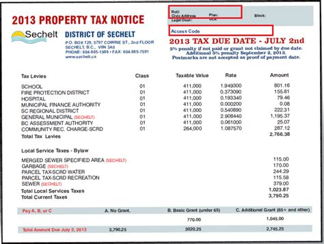 Tax Property Records Overview Of Sechelt Property Taxes