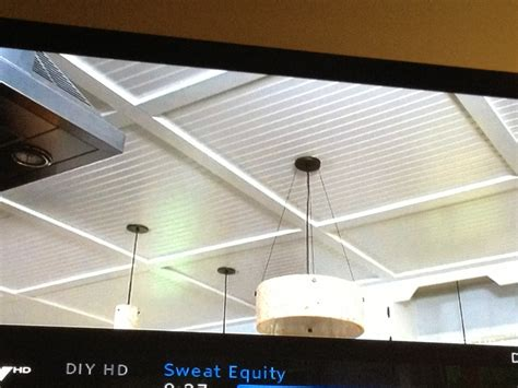 beadboard coffered ceiling from sweat equity on diy the