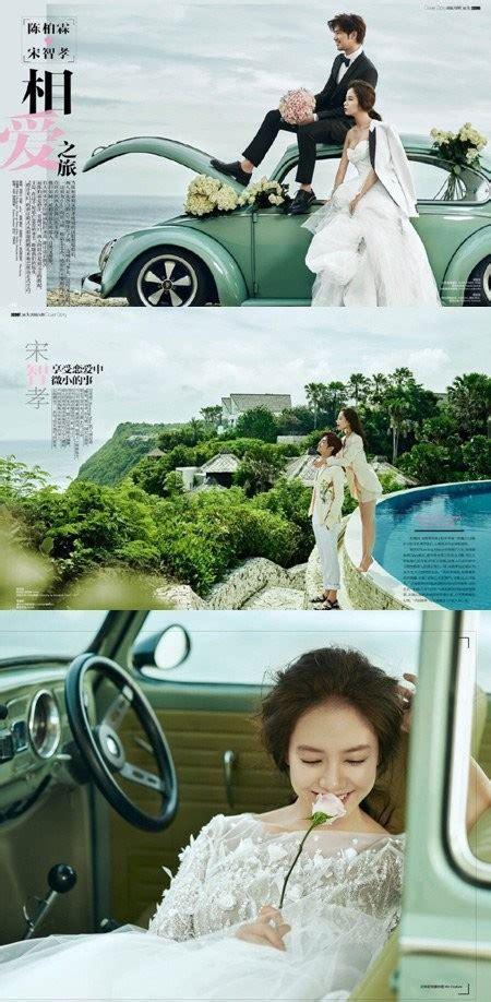 dramanice we got married song ji hyo and chen bolin pose as happy newlyweds for
