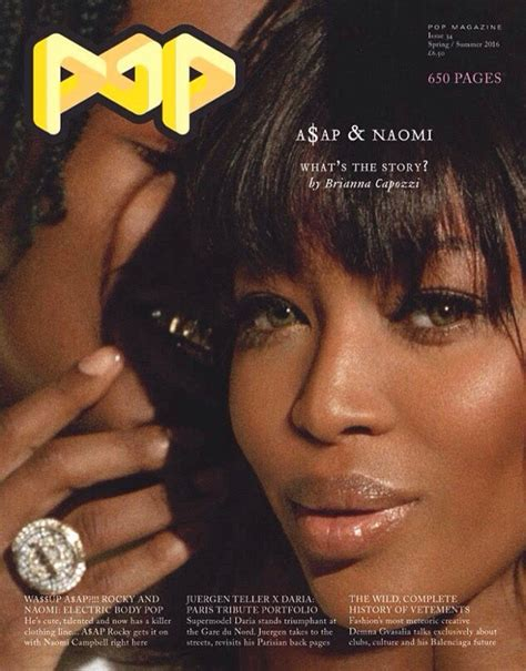 Is That You Pop Magazine Fashion Issue by Cbell Cozies Up To A Ap Rocky In Guess For Pop