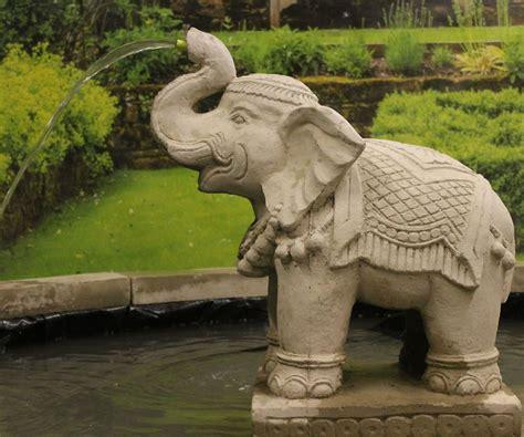 large elephant fountain statue stone garden ornaments
