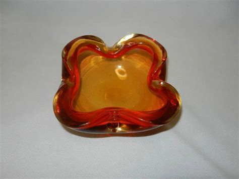 vintage murano glass ls vintage red murano glass bowl or ashtray my grandmother
