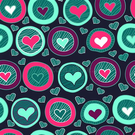 stylish heart design royalty free seamless heart pattern for valentine s day royalty free