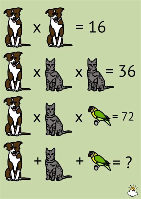 Take A Picture Of Your Math Problem each animal represents a number can you solve the problem