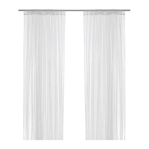 White Curtains Ikea Lill Lace Curtains 1 Pair Ikea