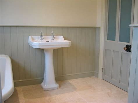 bathroom paneling ideas tongue and groove paneling downstairs loo ideas