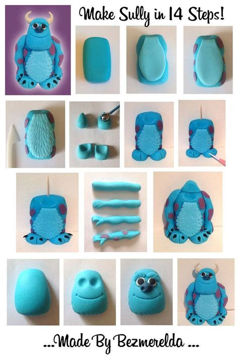 tutorial menggambar monster inc sugarcraft tutorial and step by step of sully from