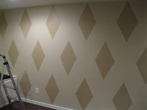 pattern in wall how to paint a diamond pattern on your wall maison d or