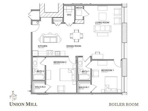 Floor Plan Size by Floor Plans The Union Mill
