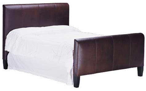 leather headboard and footboard mercer full queen king california king leather panel