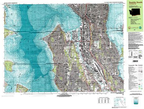 seattle map elevation seattle south topographic map wa usgs topo 47122e3