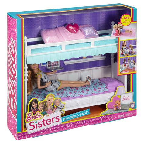 barbie doll bunk beds barbie sisters stacie doll with bunk beds giftset barbie fashion accessory pack