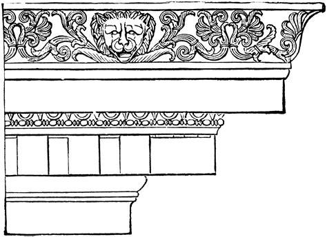 clipart cornice ionic cornice from the temple of minerva polias at priene