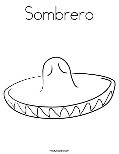 sombrero coloring page twisty noodle