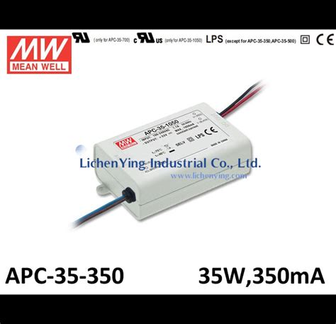 Power Supply Well Led Driver Apc 8 well 35w 350ma single output switching power supply