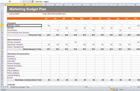 Marketing Budget Template Excel 28 Images Marketing And Budget Excel Sheets Excel Xlsx Marketing Caign Template