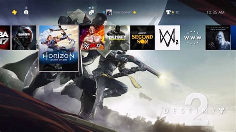 themes ps4 destiny destiny 2 preorder and dynamic theme ps4 ps4 pro youtube