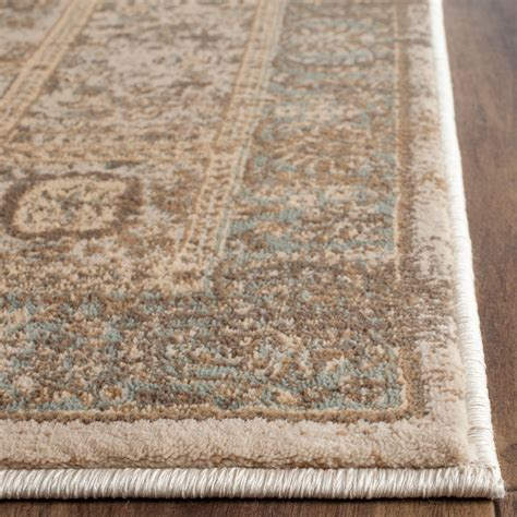 carleson ivory and blue rug rug vtg570a vintage area rugs by safavieh