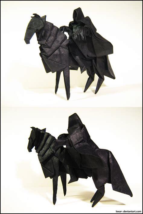 Origami Nazgul - origami nazgul by lexar on deviantart