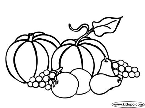 fall harvest coloring page