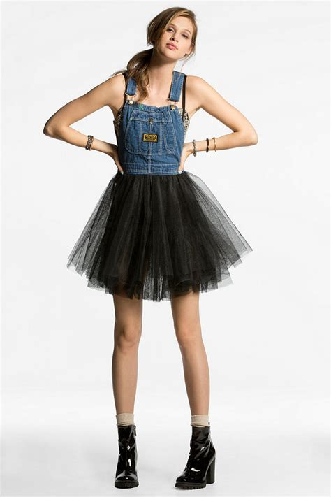 Overall Dress Softjins Hello renewal tulle skirt overall dress from outfitters