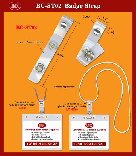 Dijamin Clear St Hanging Tags umx id badge holder with metal riveted loop for chain cord or plastic lanyard