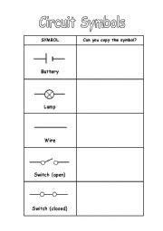 circuit diagram symbols worksheet 15 best images of electricity worksheets for students