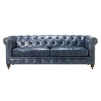 Home Decorators Collection Gordon Leather 1 Piece Sofa In Gordon Tufted Sofa