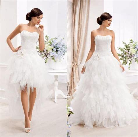 White 1 Wedding Dresses by White Wedding Dresses 2015 New Arrival Detachable